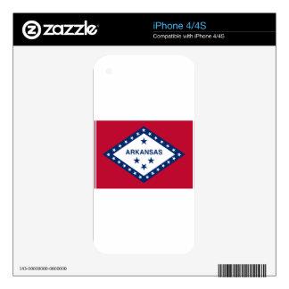Flag Of Arkansas Skin For iPhone 4S