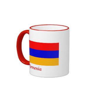 Flag of Armenia Ringer Coffee Mug