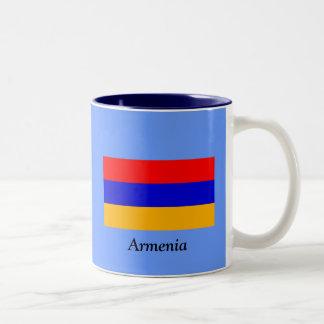 Flag of Armenia Two-Tone Coffee Mug