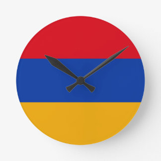 Flag of Armenia - Yeraguyn Round Clock