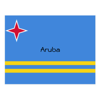 Flag of Aruba Custom Design Postcard