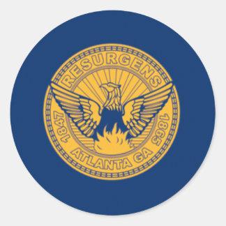 Flag of Atlanta, Georgia Classic Round Sticker