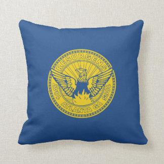 Flag of Atlanta, Georgia Throw Pillow