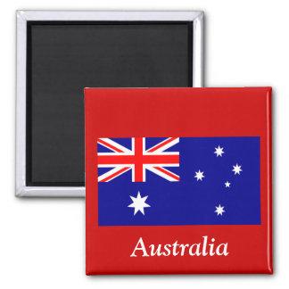 Flag of Australia 2 Inch Square Magnet