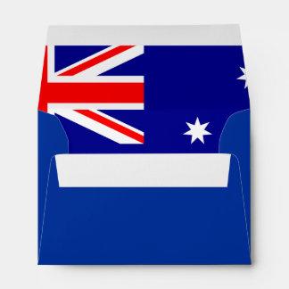 Flag of Australia A6 Linen Designer Envelopes