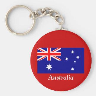 Flag of Australia Basic Round Button Keychain