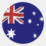 Flag of Australia Classic Round Sticker