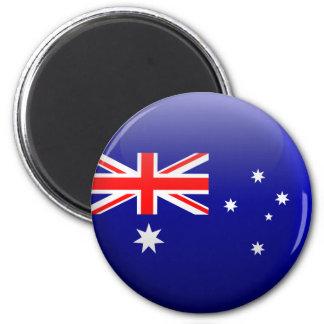 Flag of Australia 2 Inch Round Magnet