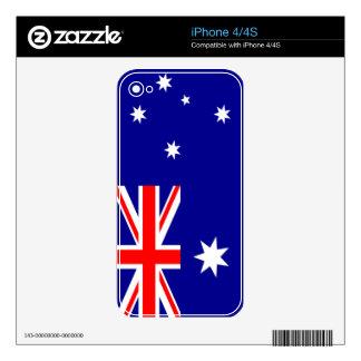 Flag of Australia Skin For iPhone 4