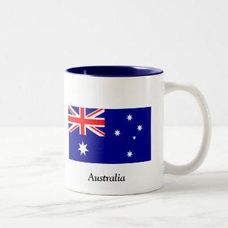 Flag of Australia Two-Tone Coffee Mug