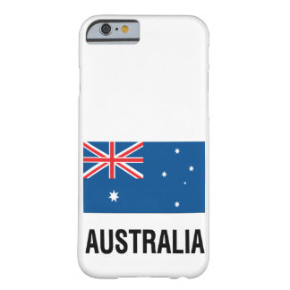 FLAG OF AUSTRALIA with TEXT Barely There iPhone 6 Case