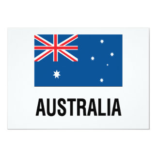 FLAG OF AUSTRALIA with TEXT Card