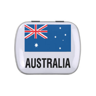 FLAG OF AUSTRALIA with TEXT Jelly Belly Tin