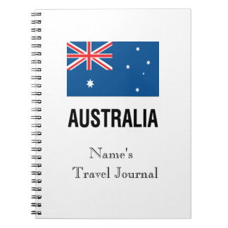 FLAG OF AUSTRALIA with TEXT Notebook