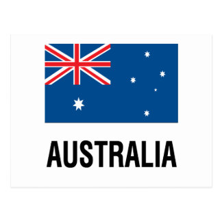 FLAG OF AUSTRALIA with TEXT Postcard