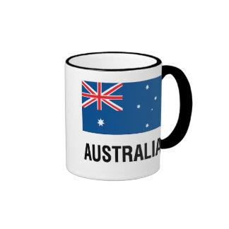 FLAG OF AUSTRALIA with TEXT Ringer Mug