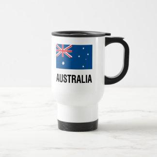 FLAG OF AUSTRALIA with TEXT Travel Mug
