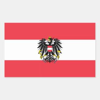 Flag of Austria / Austrian flag Rectangular Sticker