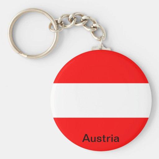 Flag of Austria Basic Round Button Keychain