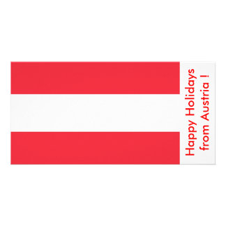 Flag of Austria Happy Holidays from Austria Personalized Photo Card