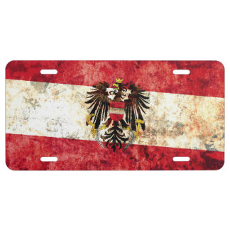 Flag of Austria License Plate