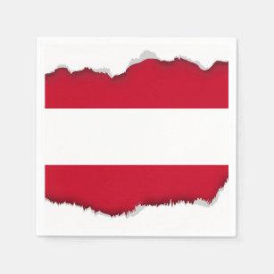 Flag of Austria Paper Napkin