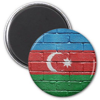 Flag of Azerbaijan 2 Inch Round Magnet
