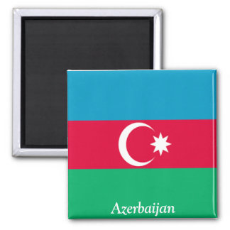 Flag of Azerbaijan 2 Inch Square Magnet