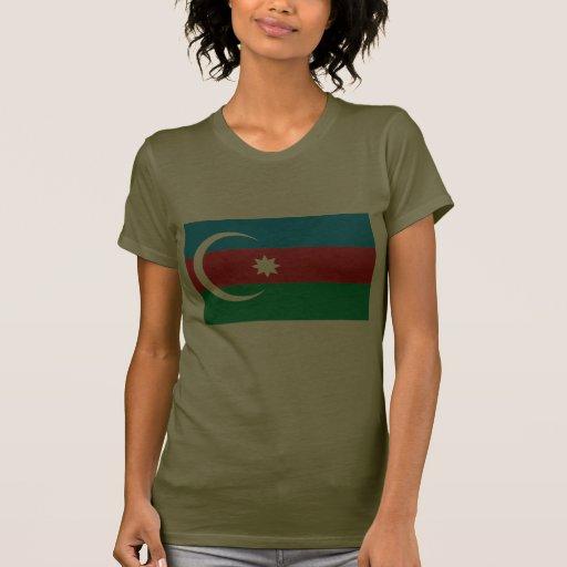 Flag of Azerbaijan- Army style for women T-shirt