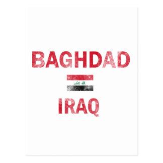Flag of Baghdad Iraq designs Postcards