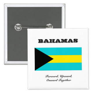 Flag of Bahamas 2 Inch Square Button