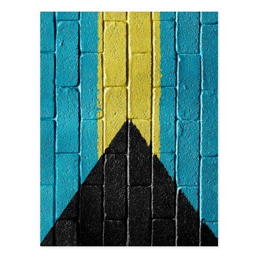 Flag of Bahamas Post Card
