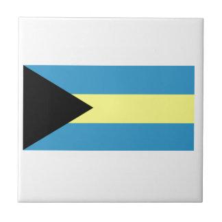 Flag of Bahamas Small Square Tile
