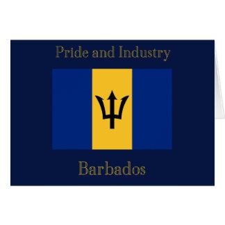 Flag of Barbados Card