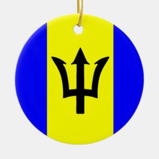 Flag of Barbados Ceramic Ornament