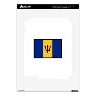 Flag Of Barbados Decal For iPad 3