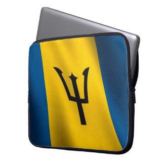 Flag of Barbados Neoprene Laptop Sleeve 15 inch