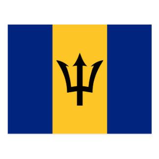 Flag of Barbados Postcard