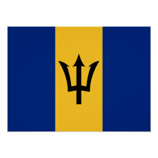 Flag of Barbados Poster