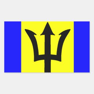 Flag of Barbados Rectangular Sticker