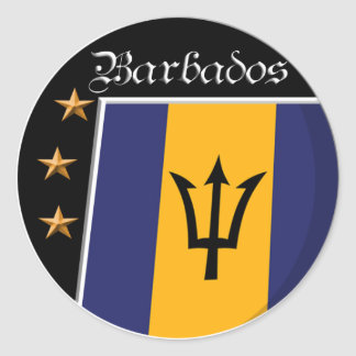 Flag of Barbados stickers