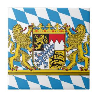 Flag of Bavaria Azulejo Cuadrado Pequeño