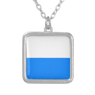 Flag of Bavaria Silver Plated Necklace