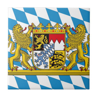 Flag OF Bavaria Ceramic Tile