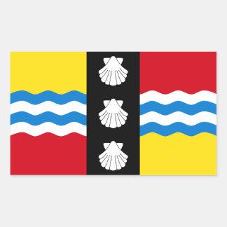 Flag of Bedfordshire Rectangular Sticker