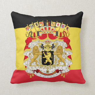 Flag of Belgium Black Yellow Red Throw Pillow