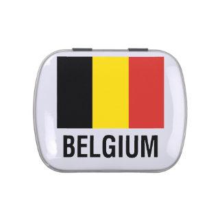 FLAG  of BELGIUM Candy Tins
