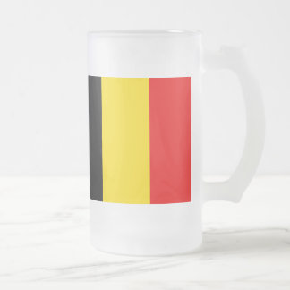 Flag of Belgium Frosted Glass Beer Mug