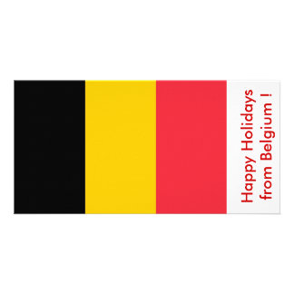 Flag of Belgium Happy Holidays from Belgium Photo Greeting Card