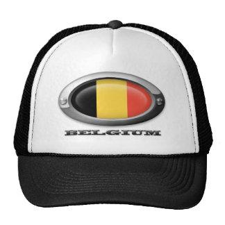 Flag of Belgium in Steel Frame Trucker Hat
